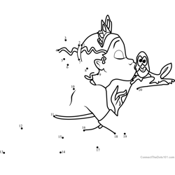 The Princess and the Frog Kissing Dot to Dot Worksheet