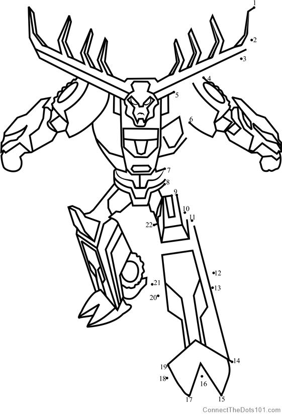 Thunderhoof From Transformers Dot To Dot Printable