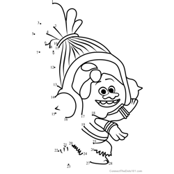 Satin and chenille in trolls dot to dot printable for Trolls coloring pages dj suki
