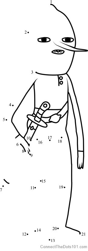 Earl Of Lemongrab Dot To Dot Printable Worksheet Connect