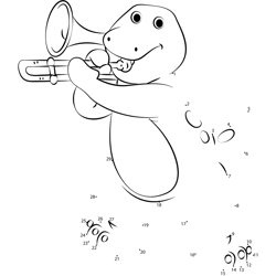 Barney playing Trumpet