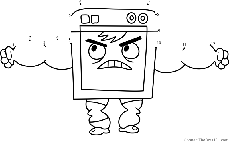 Dishwasher from Breadwinners dot to dot printable