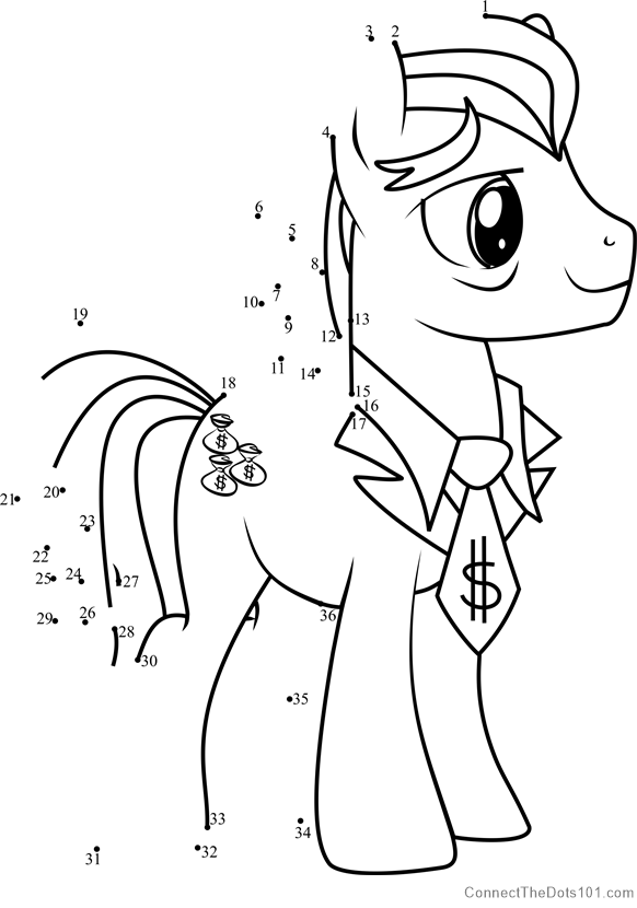 Filthy Rich My Little Pony dot to dot printable worksheet ...
