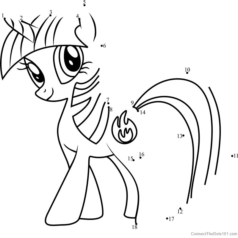 Firecracker Burst My Little Pony Dot To Dot Printable