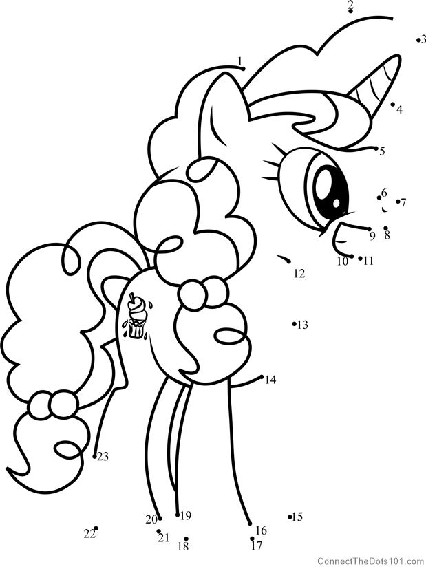 Sugar Belle My Little Pony Dot To Dot Printable Worksheet  ConnectTheDots101.com.