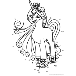 Princess Amore My Little Pony Dot to Dot Worksheet