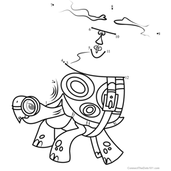Tank My Little Pony Dot to Dot Worksheet