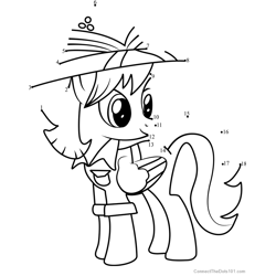 Teddie Safari My Little Pony Dot to Dot Worksheet