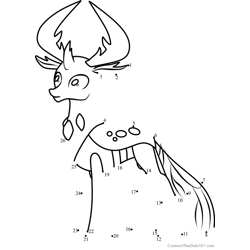 Thorax My Little Pony Dot to Dot Worksheet
