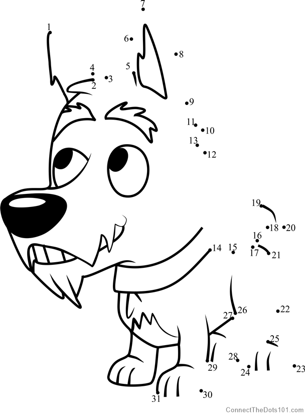 Jackpot Pound Puppies Dot To Dot Printable Worksheet
