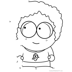 Dougie from South Park Dot to Dot Worksheet