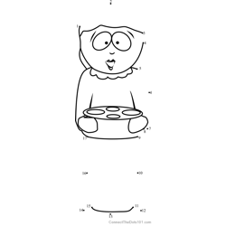 Liane Cartman from South Park Dot to Dot Worksheet