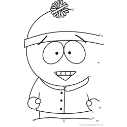 Stan Marsh from South Park Dot to Dot Worksheet