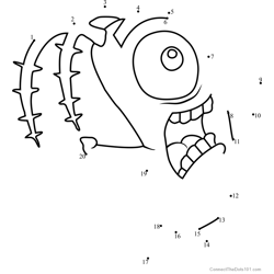 Plankton Dot to Dot Worksheet
