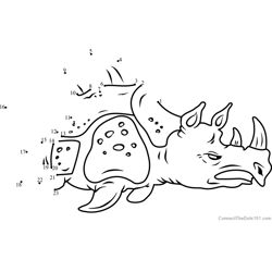 Sea Rhinoceros Dot to Dot Worksheet