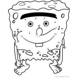 SpongeGar Dot to Dot Worksheet