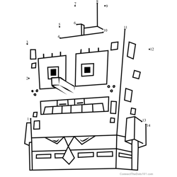 SpongeTron Dot to Dot Worksheet