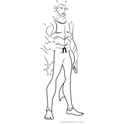 Aqualad from Young Justice Dot to Dot Worksheet