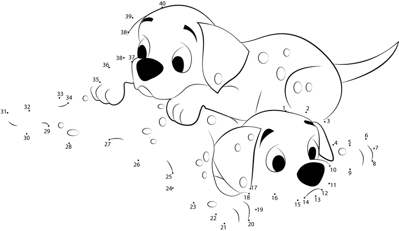 Internet 101 Worksheet : Relax dalmatians dot to printable worksheet connect
