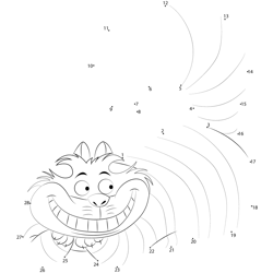 The Cheshire Cat Dot to Dot Worksheet