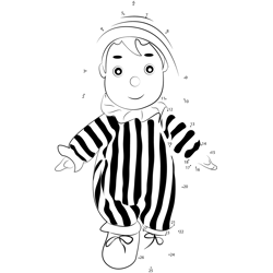 Andy Pandy Doll Dot to Dot Worksheet