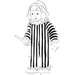 Andy Pandy Standing Dot to Dot Worksheet
