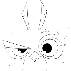 Small Angry Birds Dot to Dot Worksheet