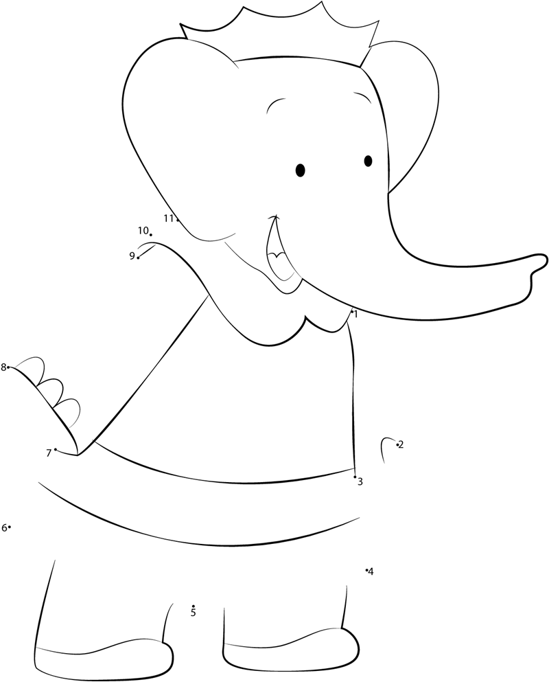 Elephant Dot To Dot Worksheet : Queen celeste dot to printable worksheet connect the