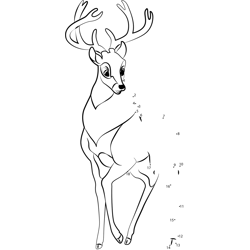 Young Bambi Dot to Dot Worksheet
