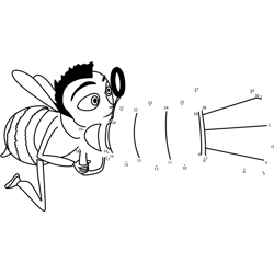 Flying Bee Dot to Dot Worksheet
