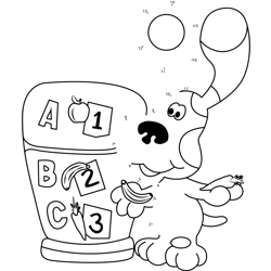 Blues Clues Playing ABC Game Dot to Dot Worksheet