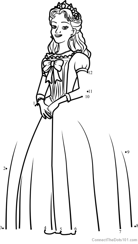 Queen miranda from sofia the first dot to dot printable worksheet queen miranda from sofia the first connect the dots for kids altavistaventures Gallery