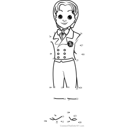 Prince James from Sofia the First Dot to Dot Worksheet