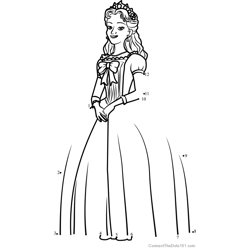 Queen Miranda  from Sofia the First Dot to Dot Worksheet