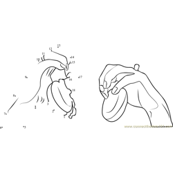 Castanet Playing Hands Position Dot to Dot Worksheet