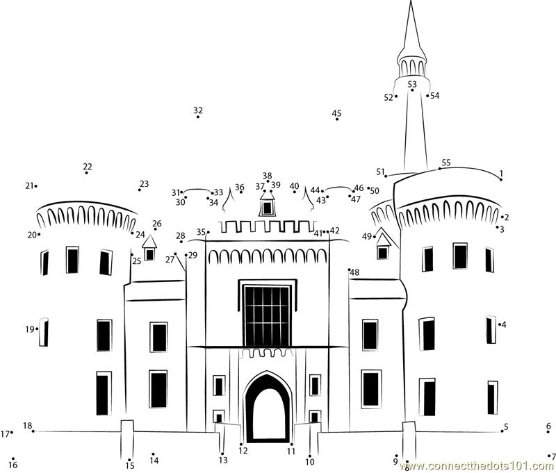 castle dot to dot printable worksheet