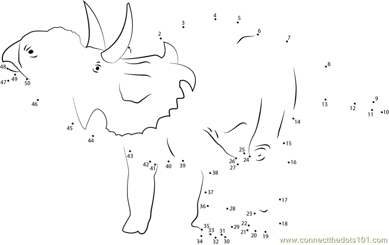 Common Worksheets u00bb Dinosaur Dot To Dot - Preschool and ...
