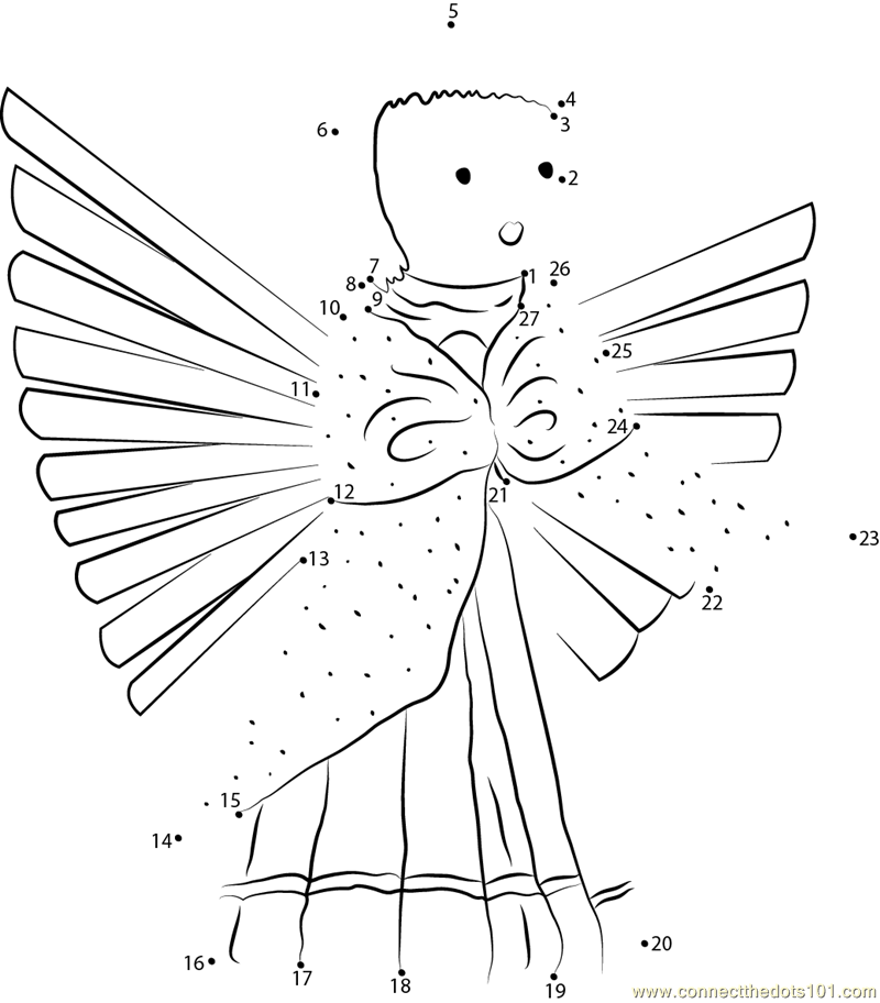 Pics Photos - Dot To Dot Angels Printable Connect The Dots Game