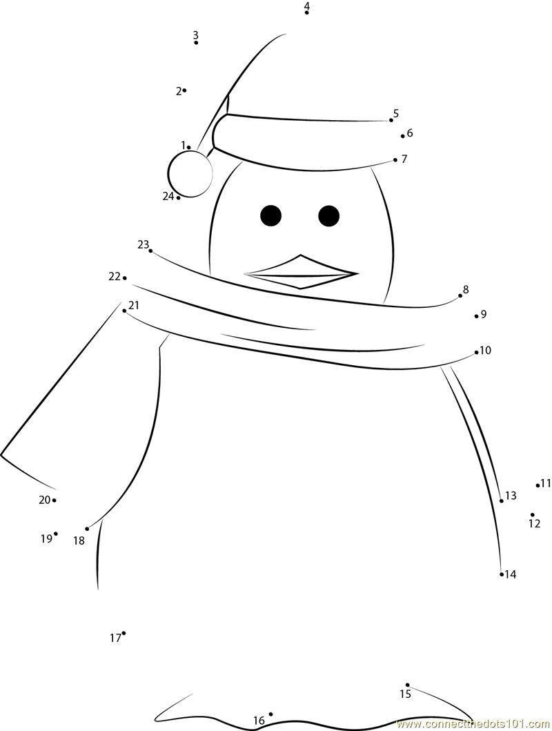Santa Penguin Dot To Printable Worksheet Connect The Dots