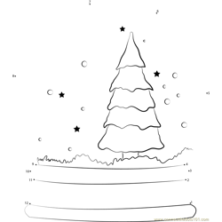 Snow Globe Dot to Dot Worksheet