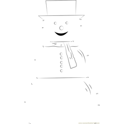 Snowman Smile Dot to Dot Worksheet