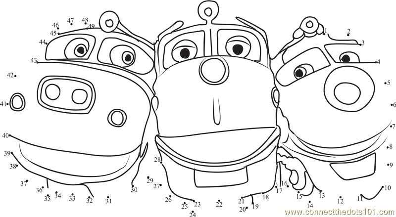 Chuggington Coloring Pages Pdf : Chuggington love dot to printable worksheet connect