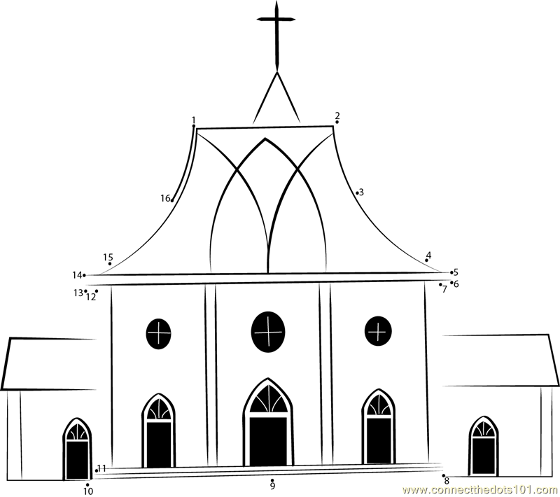 st luke 39 s united reformed church dot to dot printable worksheet connect the dots. Black Bedroom Furniture Sets. Home Design Ideas