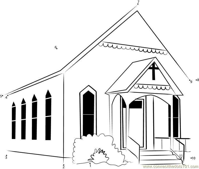 Watauga Presbyterian Church dot to dot printable worksheet