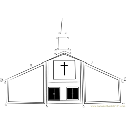 St. Hedwig's Church Dot to Dot Worksheet