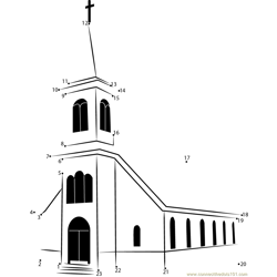 St. Ignatius Church Dot to Dot Worksheet
