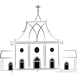 St Luke's United Reformed Church Dot to Dot Worksheet