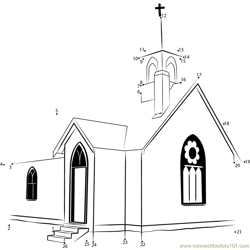 Union Point Church Dot to Dot Worksheet