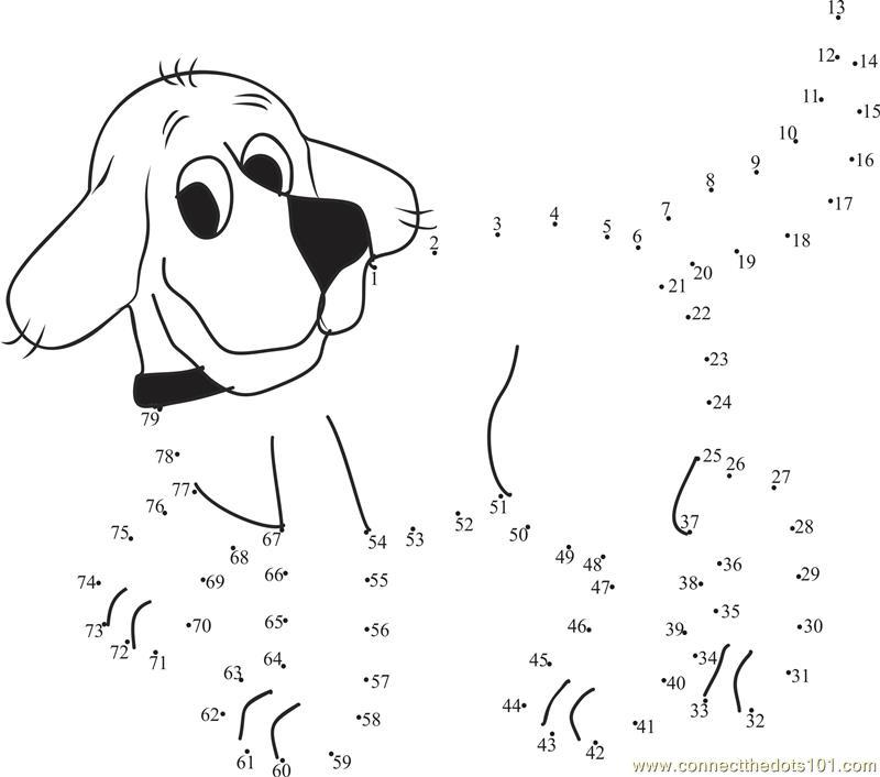 Clifford The Big Dog dot to dot