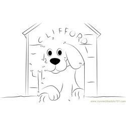 Clifford Dog in Home